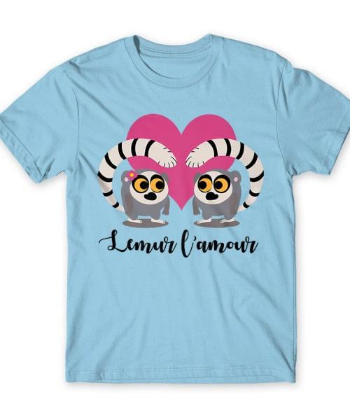Lemur l'amour Póló - Ha Lemur rajongó ezeket a pólókat tuti imádni fogod!