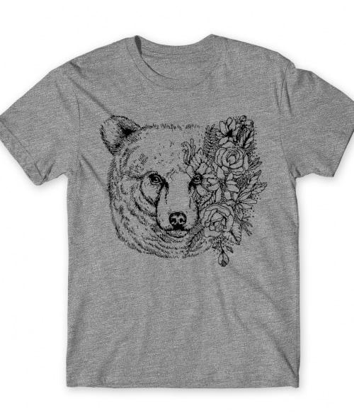 Bear and flowers Póló - Ha Bear rajongó ezeket a pólókat tuti imádni fogod!