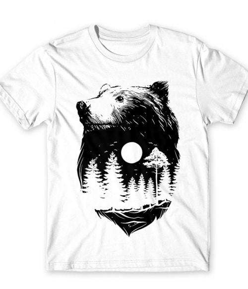 Bear and forest Póló - Ha Bear rajongó ezeket a pólókat tuti imádni fogod!