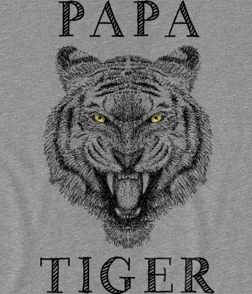 Papa tiger Póló - Ha Tiger rajongó ezeket a pólókat tuti imádni fogod!
