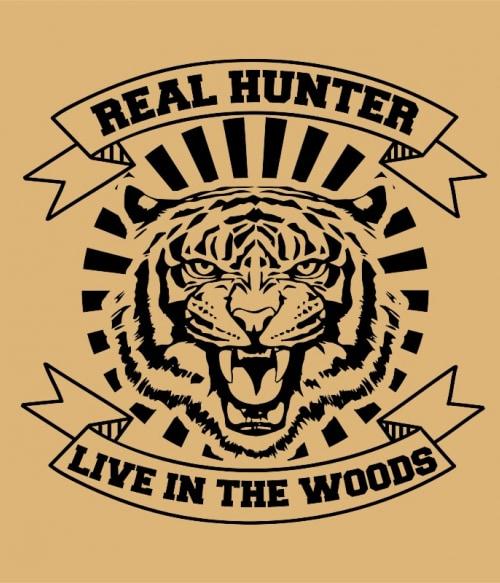 Real hunter Póló - Ha Tiger rajongó ezeket a pólókat tuti imádni fogod!