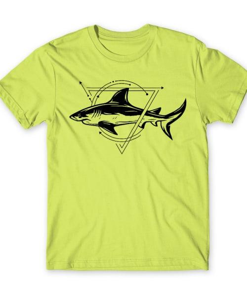 Geometric shark Póló - Ha Shark rajongó ezeket a pólókat tuti imádni fogod!