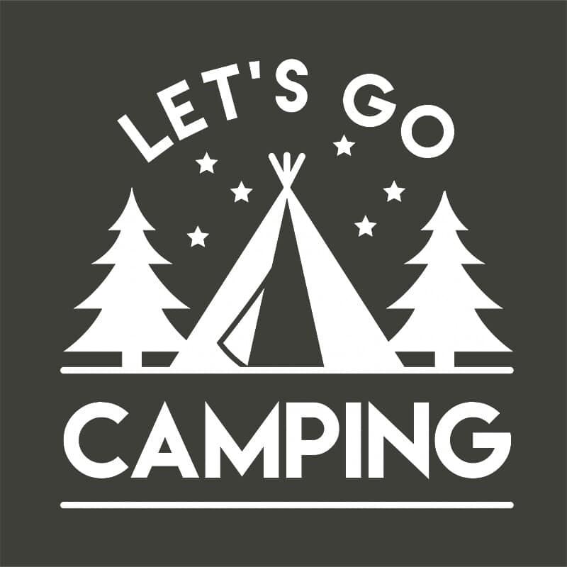 Let's go camping Póló - Ha Hiking rajongó ezeket a pólókat tuti imádni fogod!