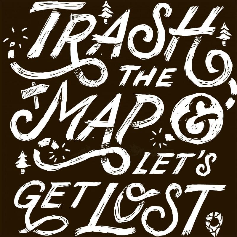 Trash the map Póló - Ha Hiking rajongó ezeket a pólókat tuti imádni fogod!