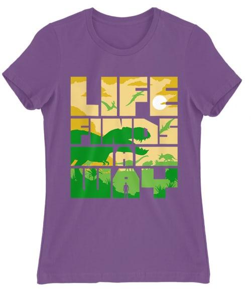 Life finds a way Póló - Ha Jurassic Park rajongó ezeket a pólókat tuti imádni fogod!