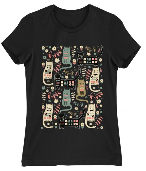 Cat pattern Póló - Ha Cat rajongó ezeket a pólókat tuti imádni fogod!