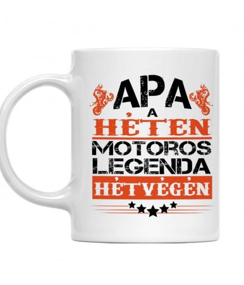 Motoros Legenad Apa Póló - Ha Motorcycle rajongó ezeket a pólókat tuti imádni fogod!