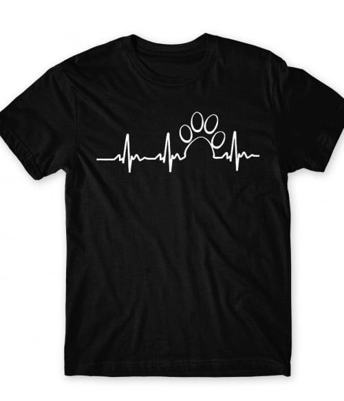 Paw heartbeat Póló - Ha Dog rajongó ezeket a pólókat tuti imádni fogod!