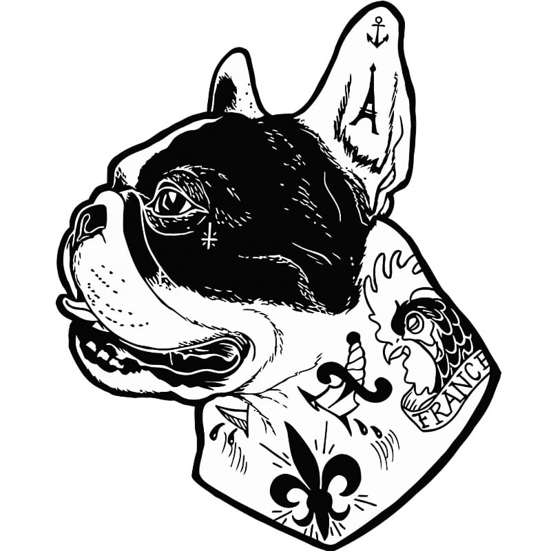 Tattooed french bulldog Póló - Ha Dog rajongó ezeket a pólókat tuti imádni fogod!