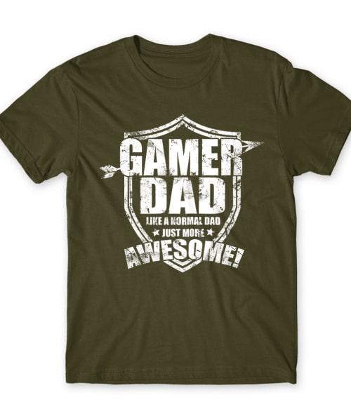 Awesome gamer dad Póló - Ha Gamer rajongó ezeket a pólókat tuti imádni fogod!