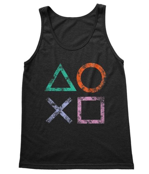 Playstation symbols Póló - Ha Gamer rajongó ezeket a pólókat tuti imádni fogod!