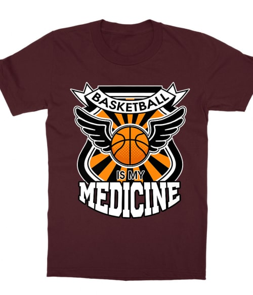 Basketball is my Medicine Póló - Ha Basketball rajongó ezeket a pólókat tuti imádni fogod!