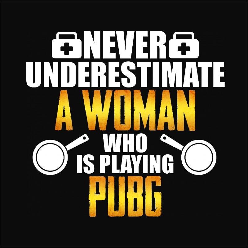 Woman PUBG Póló - Ha Playerunknowns Battlegrounds rajongó ezeket a pólókat tuti imádni fogod!