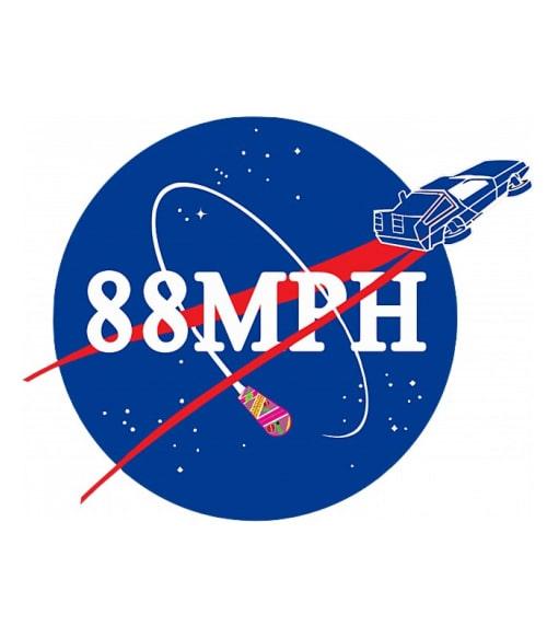 88 MPH Nasa Logo Póló - Ha Back to the Future rajongó ezeket a pólókat tuti imádni fogod!