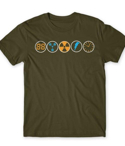 Back to the Future Icons Póló - Ha Back to the Future rajongó ezeket a pólókat tuti imádni fogod!