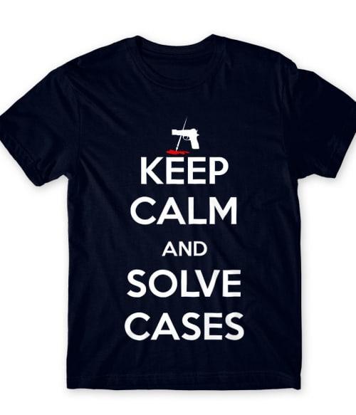Keep Calm and Solve Cases Póló - Ha Castle rajongó ezeket a pólókat tuti imádni fogod!