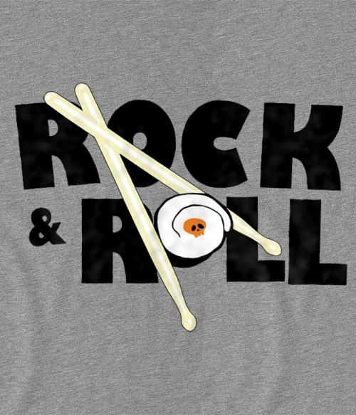 Rock and rolls sushi Póló - Ha Rocker rajongó ezeket a pólókat tuti imádni fogod!