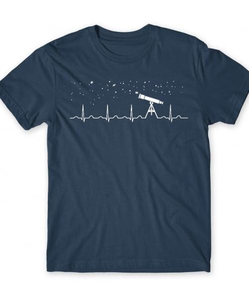 Astronomy heartbeat Póló - Ha Astronomy rajongó ezeket a pólókat tuti imádni fogod!