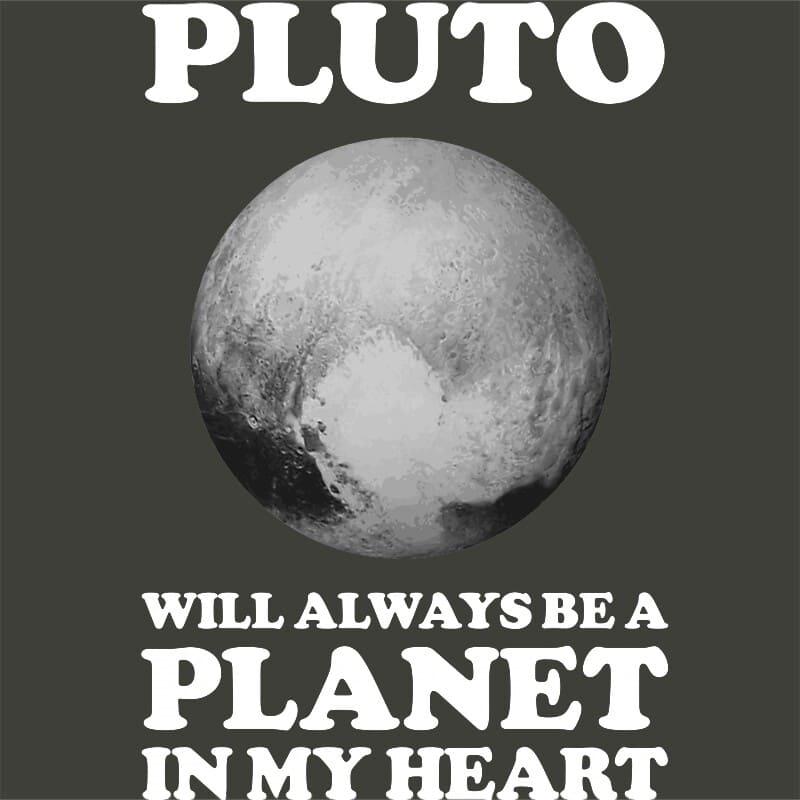 Pluto planet in my heart Póló - Ha Astronomy rajongó ezeket a pólókat tuti imádni fogod!