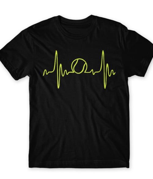 Tennis heartbeat Póló - Ha Tennis rajongó ezeket a pólókat tuti imádni fogod!