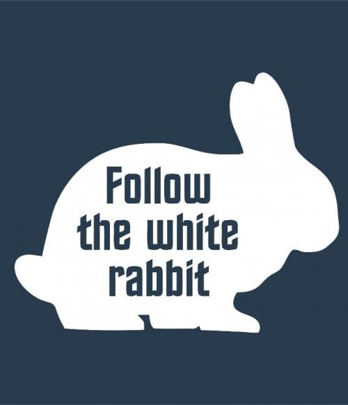 Follow the white rabbit Póló - Ha The Matrix rajongó ezeket a pólókat tuti imádni fogod!