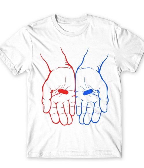 Hands and pills Póló - Ha The Matrix rajongó ezeket a pólókat tuti imádni fogod!