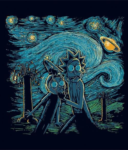 Rick and Morty Van Gogh Póló - Ha Rick and Morty rajongó ezeket a pólókat tuti imádni fogod!