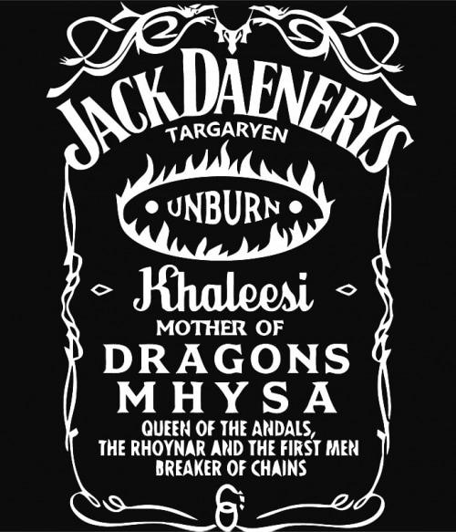 Jack Daniel's Daenerys Póló - Ha Game of Thrones rajongó ezeket a pólókat tuti imádni fogod!