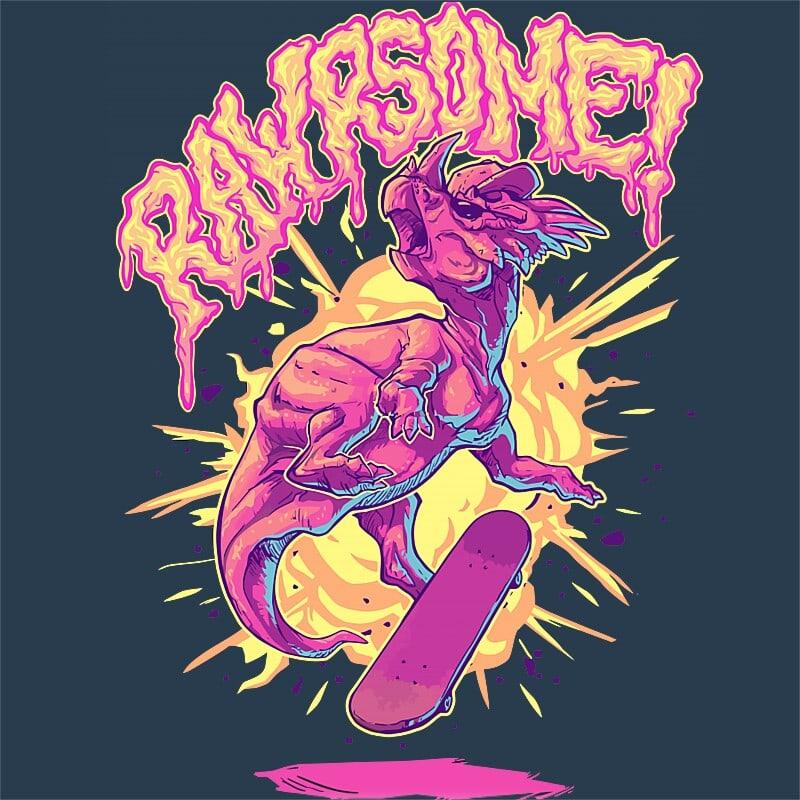 Rawrsome Póló - Ha Skateboard rajongó ezeket a pólókat tuti imádni fogod!