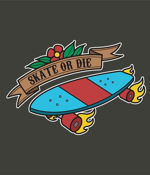 Skate or Die Old School Póló - Ha Skateboard rajongó ezeket a pólókat tuti imádni fogod!