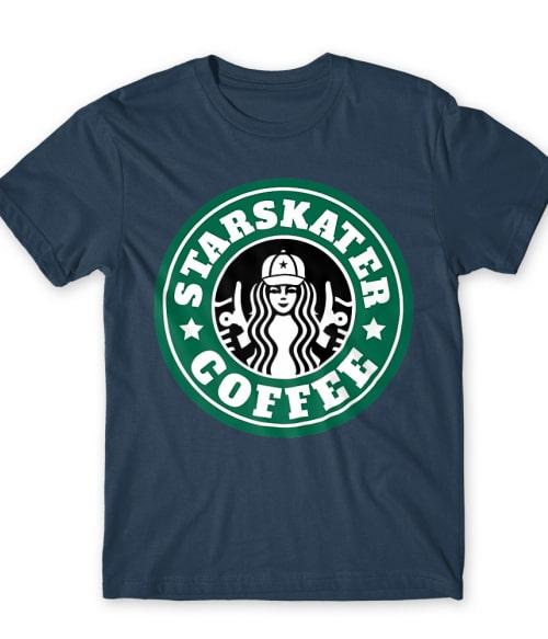 Starskater Coffee Póló - Ha Skateboard rajongó ezeket a pólókat tuti imádni fogod!