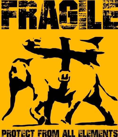 Banksy Fragile Póló - Ha Graffiti rajongó ezeket a pólókat tuti imádni fogod!