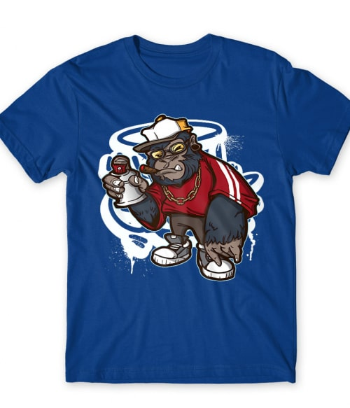 Hip Hop Gorilla graffiti Póló - Ha Graffiti rajongó ezeket a pólókat tuti imádni fogod!