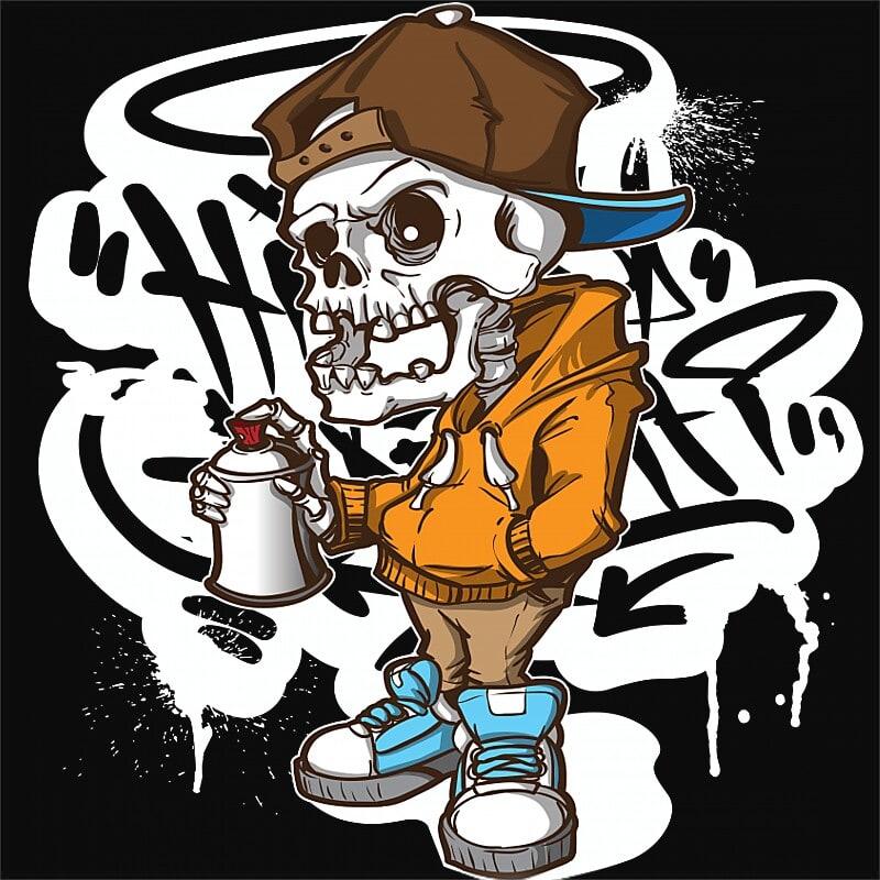 Hip Hop skull Póló - Ha Graffiti rajongó ezeket a pólókat tuti imádni fogod!