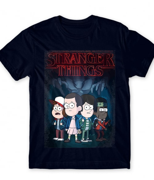 Stranger Gravity Falls Póló - Ha Stranger Things rajongó ezeket a pólókat tuti imádni fogod!