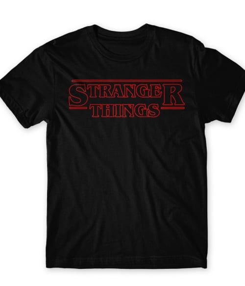 Stranger Things logo Póló - Ha Stranger Things rajongó ezeket a pólókat tuti imádni fogod!