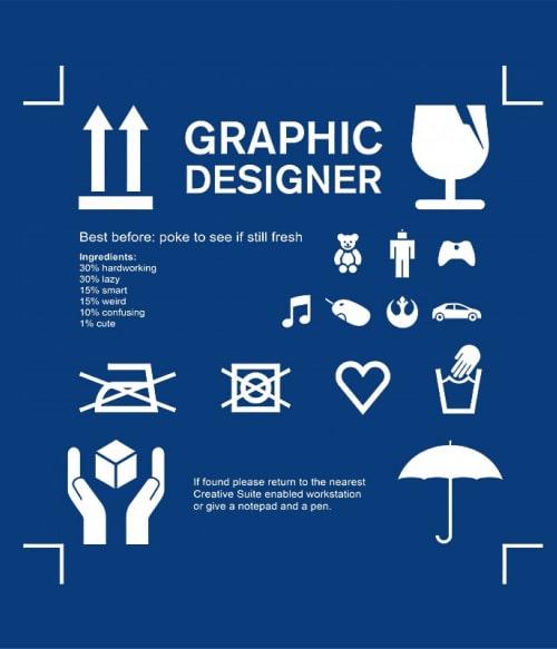 Graphic designer manual Póló - Ha Graphic Designer rajongó ezeket a pólókat tuti imádni fogod!