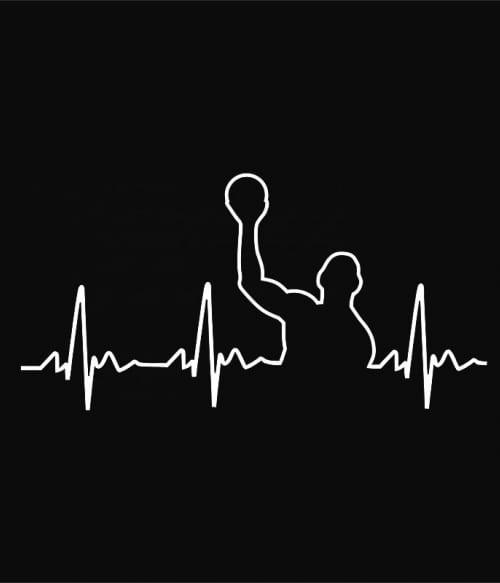 Water polo heartbeat Póló - Ha Water polo rajongó ezeket a pólókat tuti imádni fogod!
