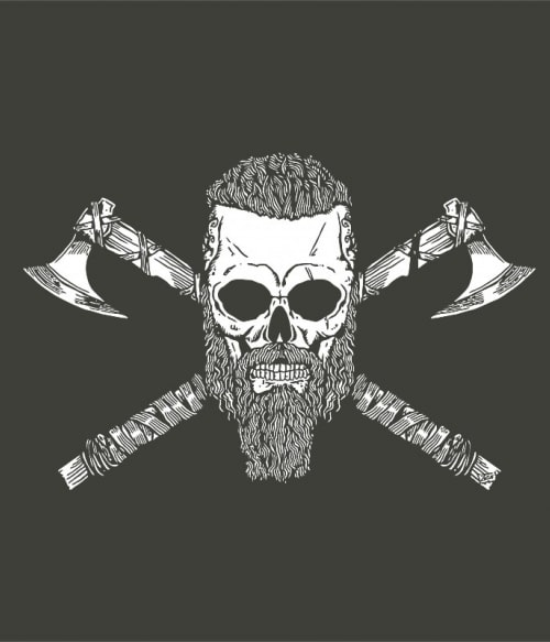 Viking skull Póló - Ha Vikings rajongó ezeket a pólókat tuti imádni fogod!