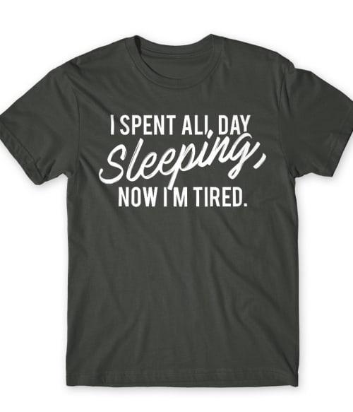 I spent all day sleeping Póló - Ha Laziness rajongó ezeket a pólókat tuti imádni fogod!