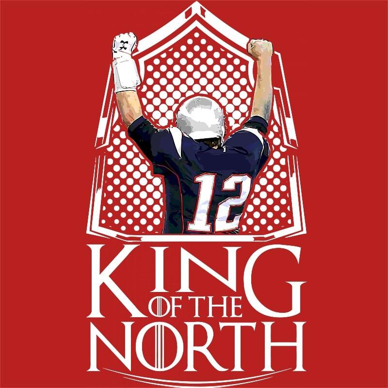Patriots king of the north Póló - Ha American Football rajongó ezeket a pólókat tuti imádni fogod!