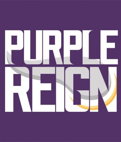 Purple reign Póló - Ha American Football rajongó ezeket a pólókat tuti imádni fogod!