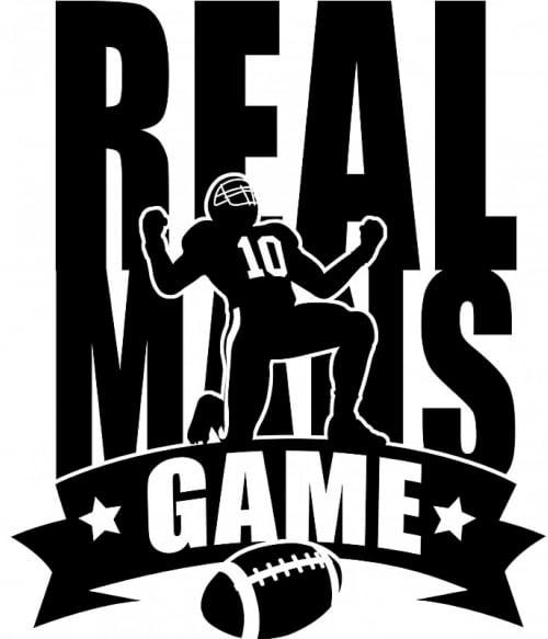 Real mans game Póló - Ha American Football rajongó ezeket a pólókat tuti imádni fogod!