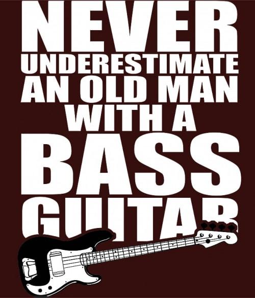 Old man with a bass guitar Póló - Ha Instrument rajongó ezeket a pólókat tuti imádni fogod!