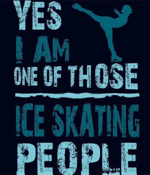 Ice skating people Póló - Ha Ice Skate rajongó ezeket a pólókat tuti imádni fogod!