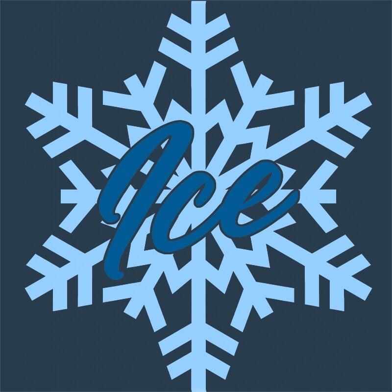 Ice snowflakes Póló - Ha Ice Skate rajongó ezeket a pólókat tuti imádni fogod!
