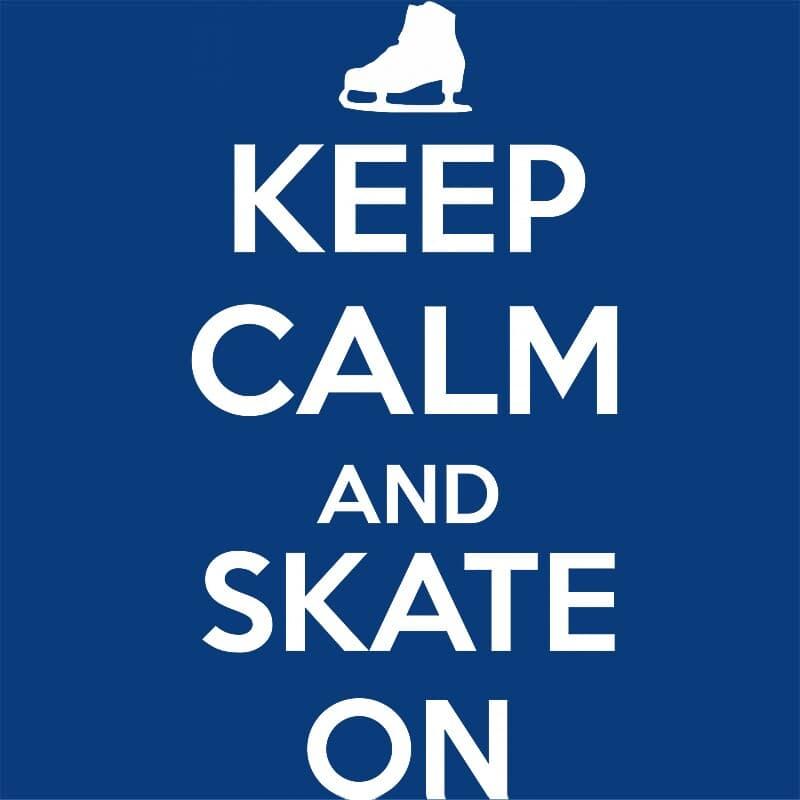 Keep calm and skate on Póló - Ha Ice Skate rajongó ezeket a pólókat tuti imádni fogod!