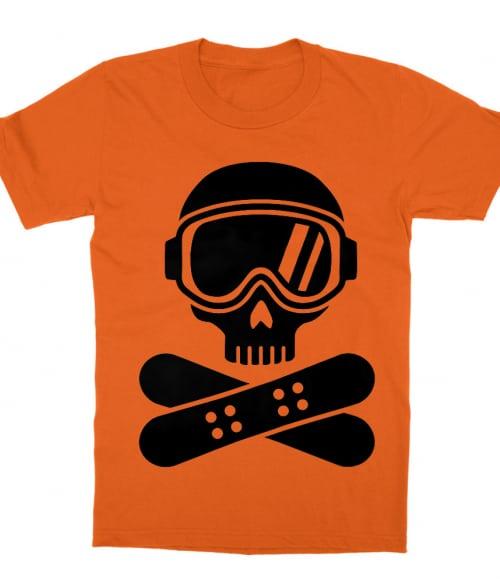 Cross Boards Skull Póló - Ha Ski rajongó ezeket a pólókat tuti imádni fogod!