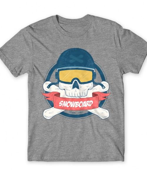 Snowboard Skull Póló - Ha Ski rajongó ezeket a pólókat tuti imádni fogod!