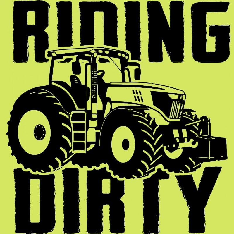 Riding dirty Póló - Ha Tractor rajongó ezeket a pólókat tuti imádni fogod!